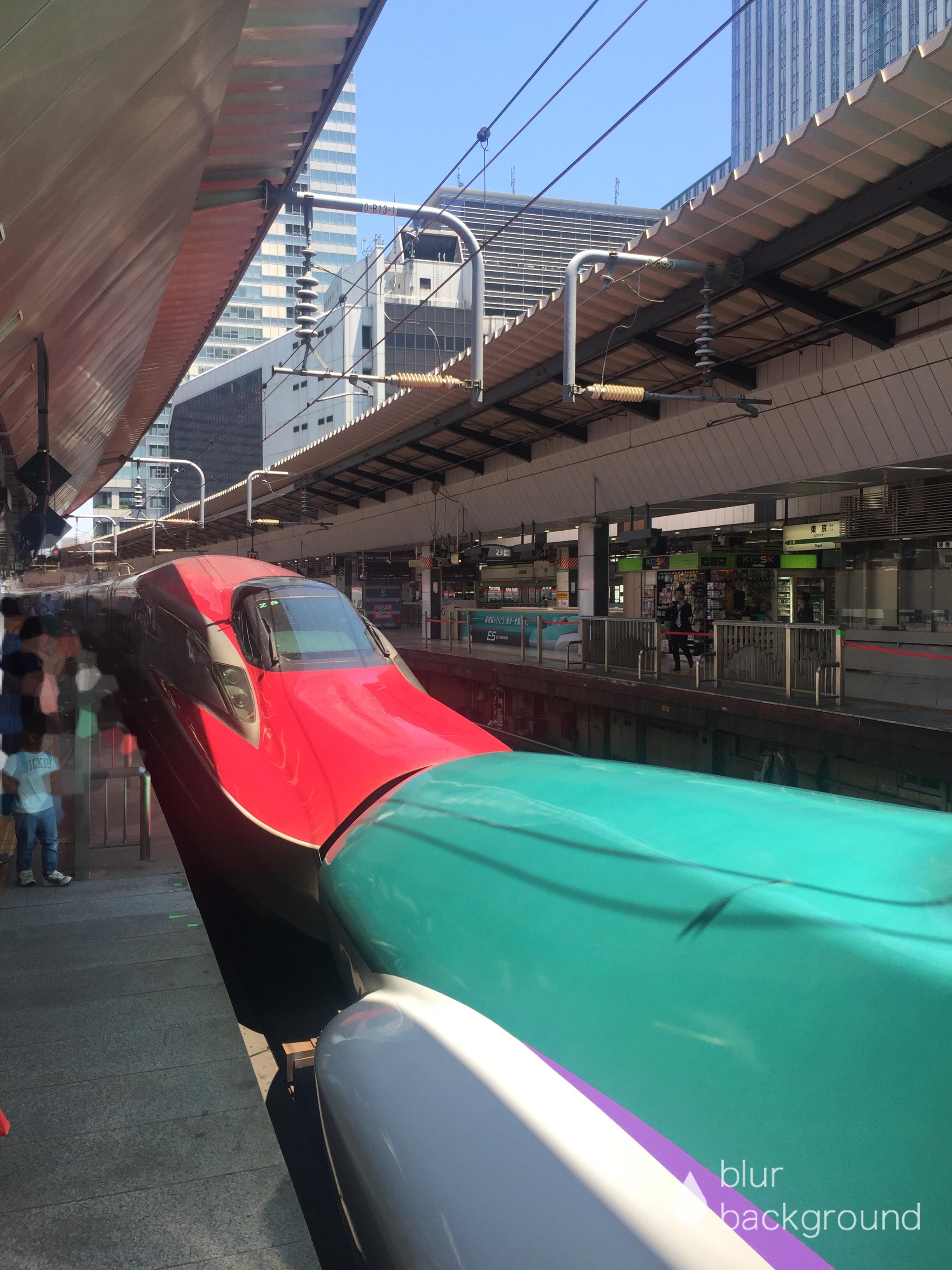 東京駅で新幹線を間近に見よう
